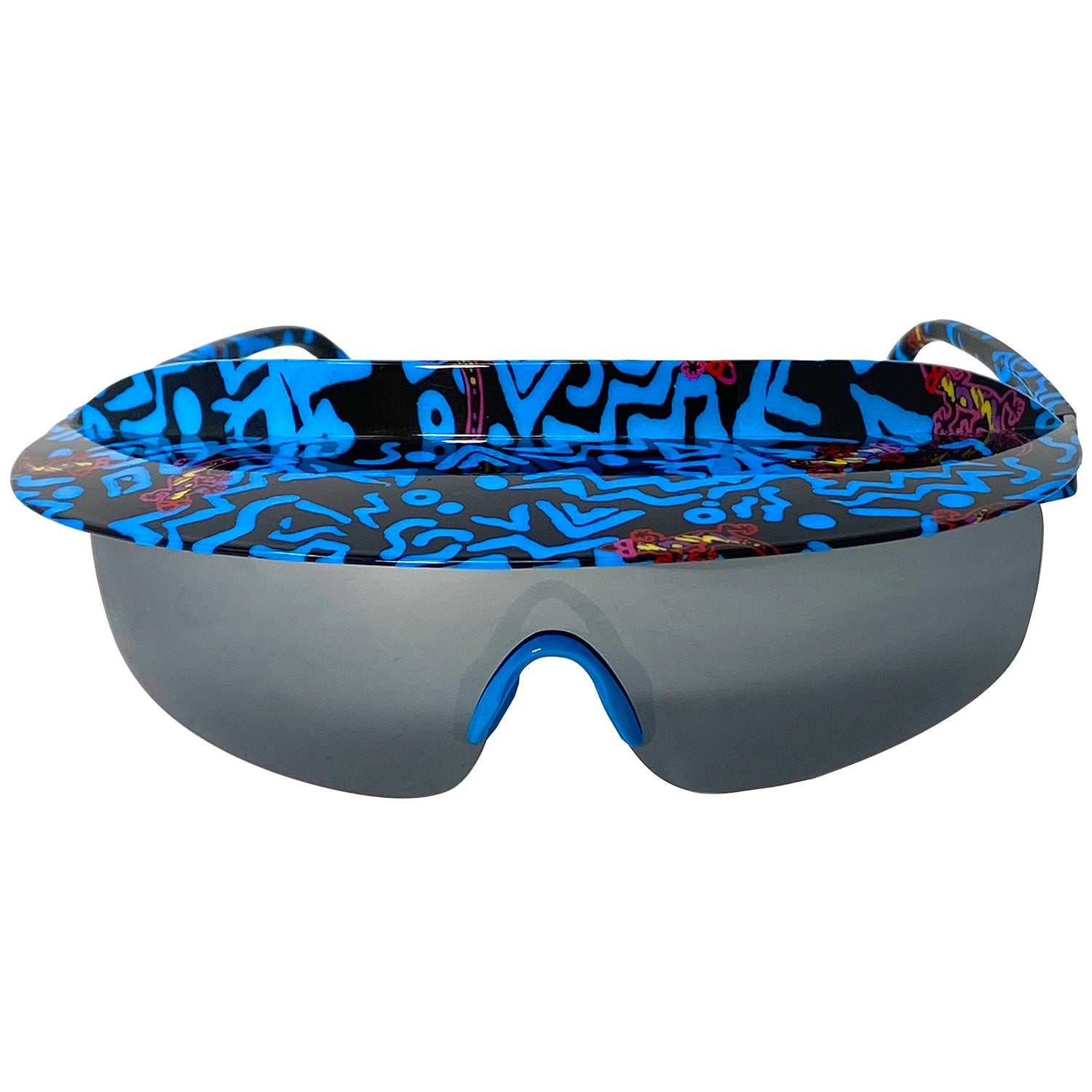 NEW - Gecko Blue Geo - 90s Retro Sunglasses
