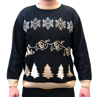CU Buffaloes Handmade Christmas Sweater - B Fresh