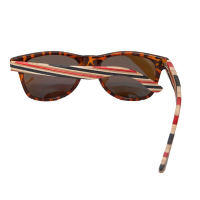 Candy Canes - Skateboard Deck Wooden Sunglasses - B Fresh