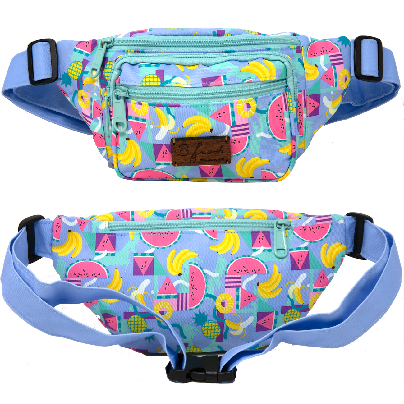 Fruit Snacks Fruit Pattern Fanny Pack - B Fresh