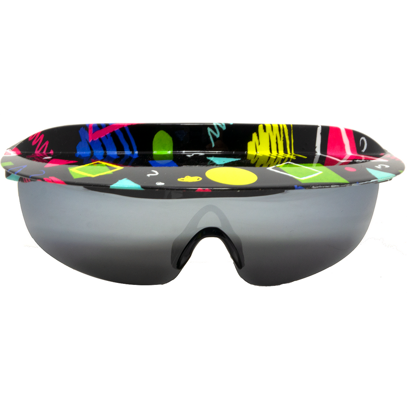 The Get In Shapes 80's Visor Sunglasses -  Vintage Retro Shades