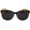 Gold Rimmed Hepburns - Vintage Wooden Sunglasses - B Fresh