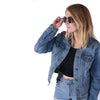 Sunny Sides Black - Vintage Wooden Sunglasses - B Fresh