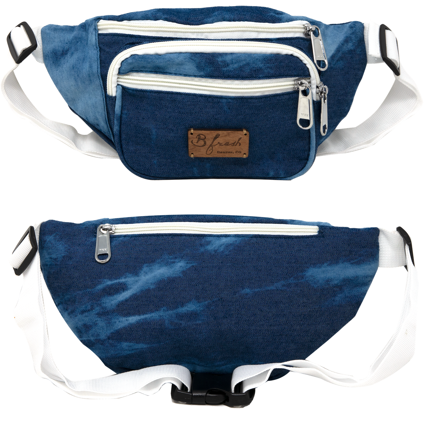 Lucy's Jeans Acid Washed Denim Fanny Pack - B Fresh