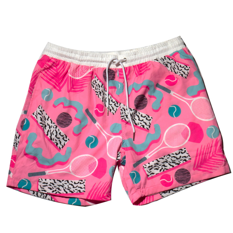 All That Racket Swim Trunks