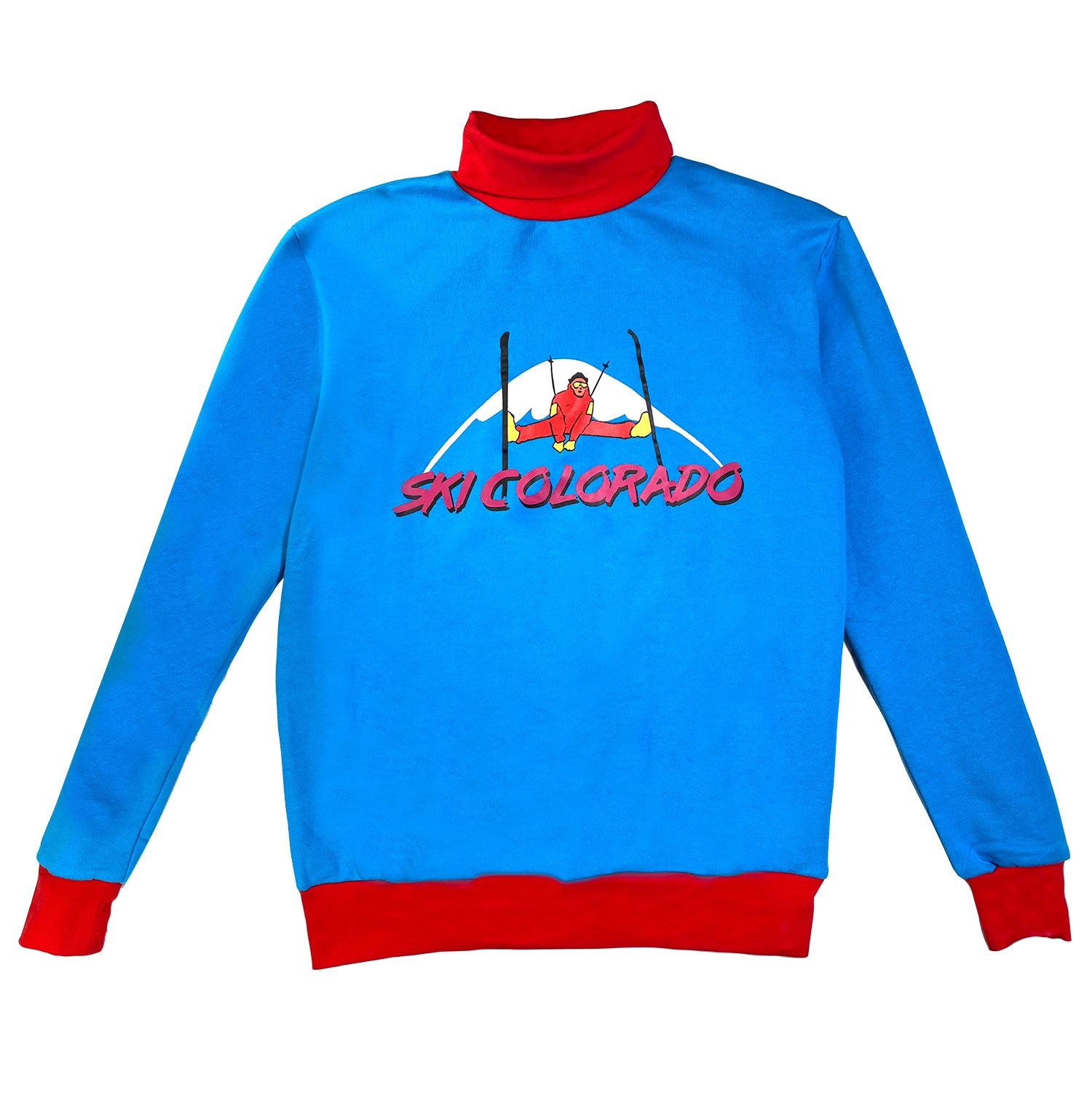 Ski Colorado - Vintage Retro Turtleneck Sweater