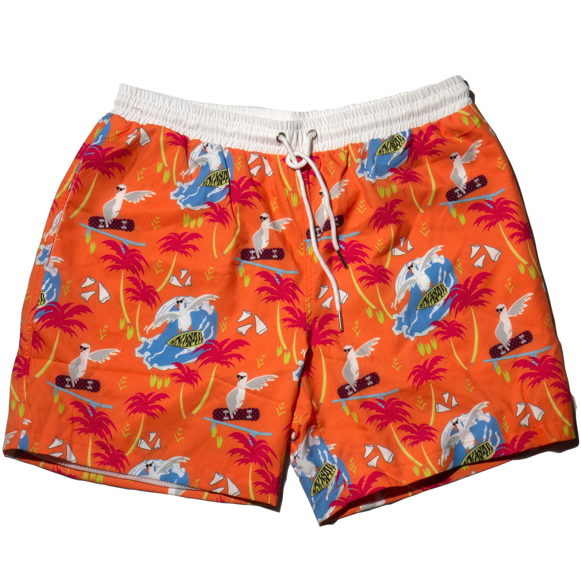 Surfin' Birds Retro Vintage Swim Trunks