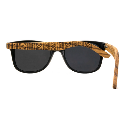 Drift Woods Tiki Engraved - Vintage Wooden Sunglasses - B Fresh