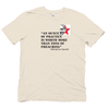 Organic Cotton t-hsirt with Gandhi quote - yogiiza.com