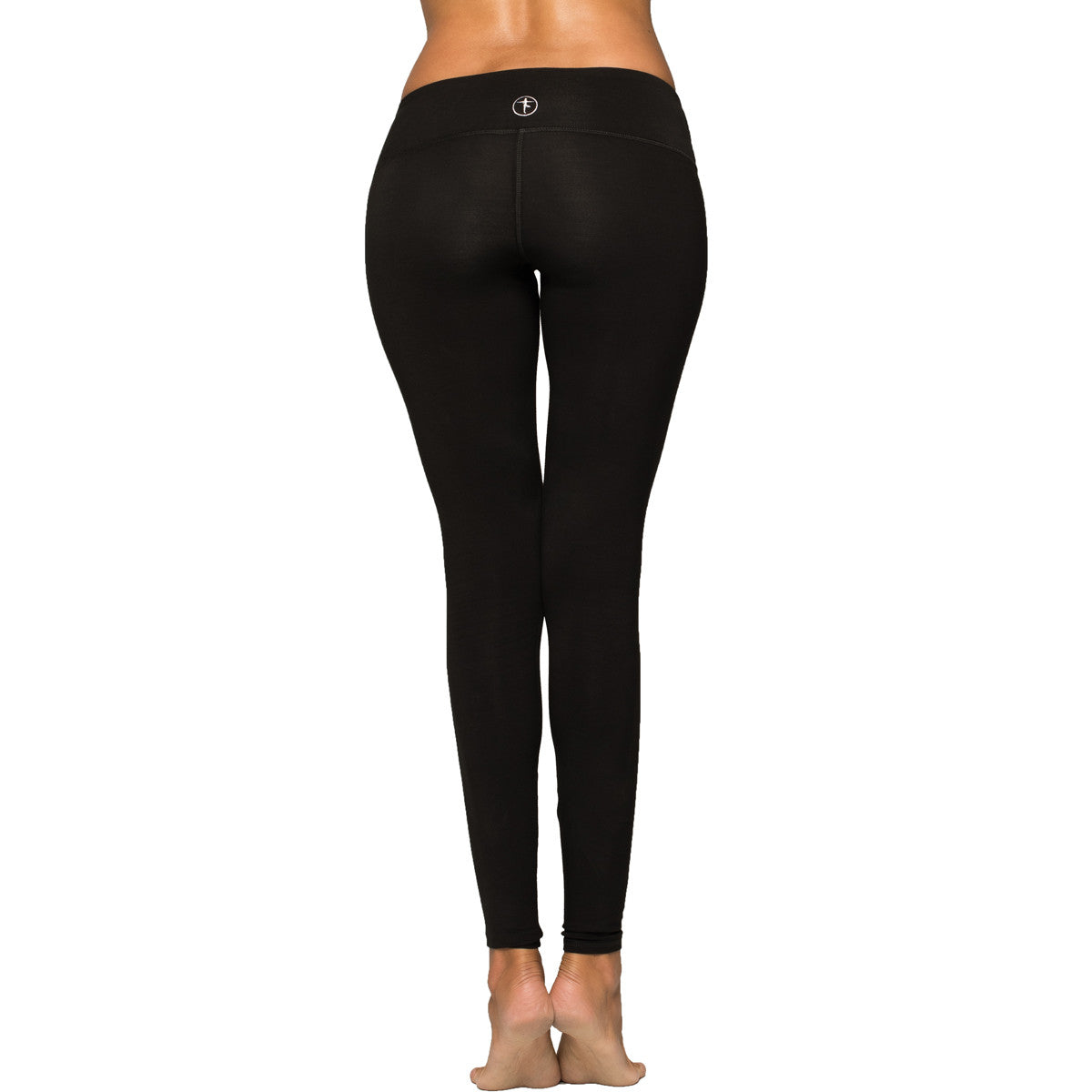 Black Cropped Yoga Leggings by YOGiiZA - YOGiiZA.com