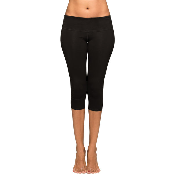 Black Cropped Yoga Leggings By Yogiiza Yogiiza Com