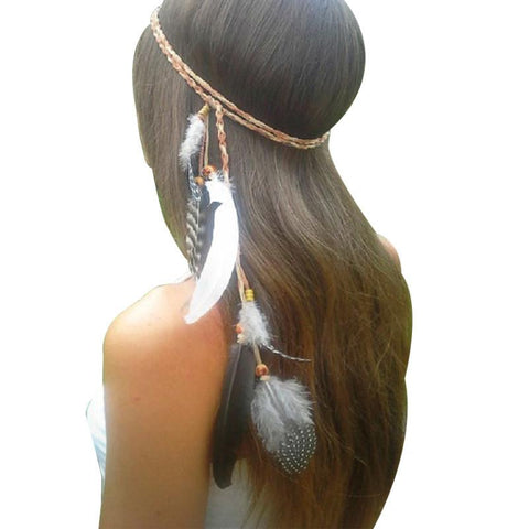 Peacock Feather Head Band - Caxato