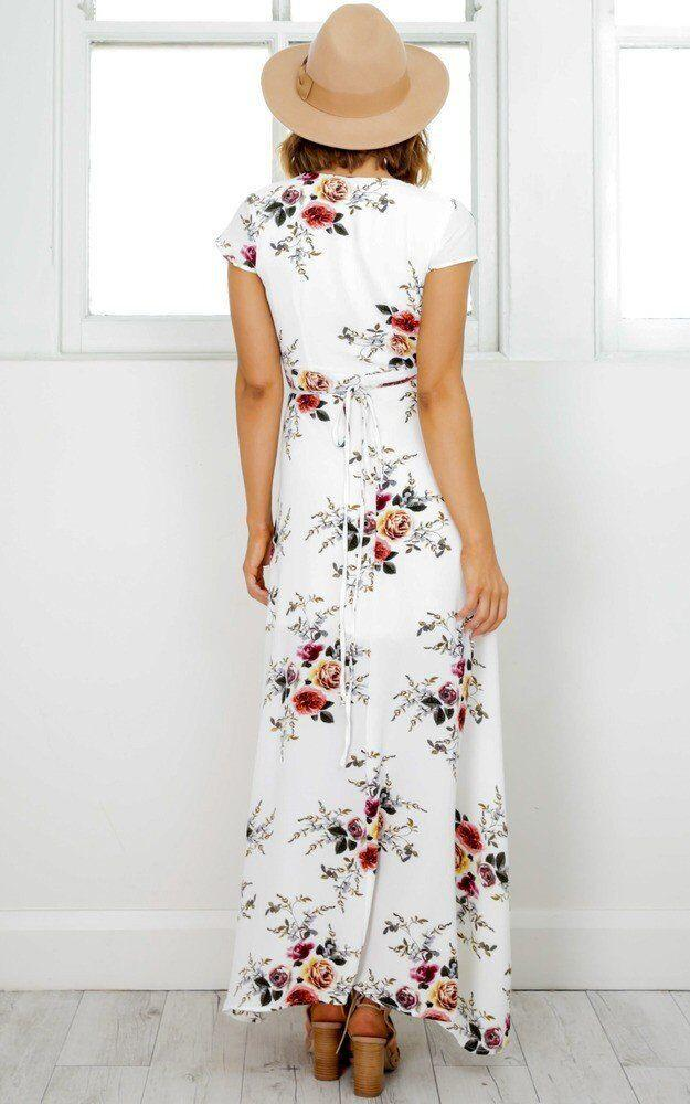 Sexy Floral Summer Dress - Caxato