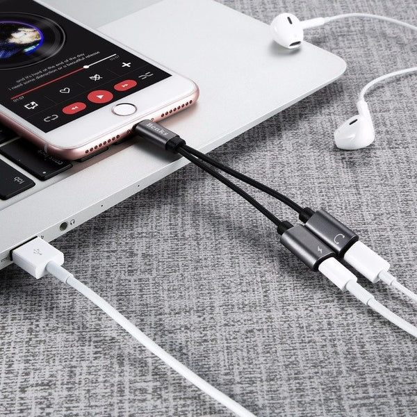 2 in 1 Audio Jack & Charging Adapter - Caxato