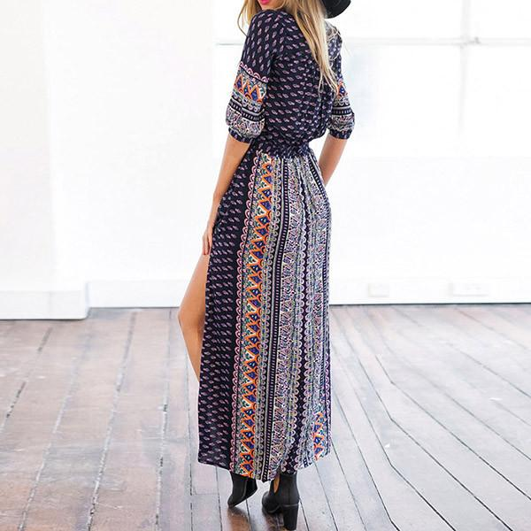 Bohemian Summer Split Dress - Caxato