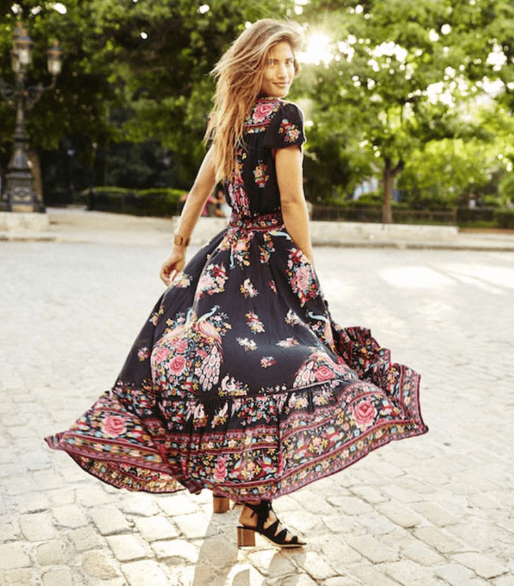 Summer Ethnic Boho Print Dress - Caxato