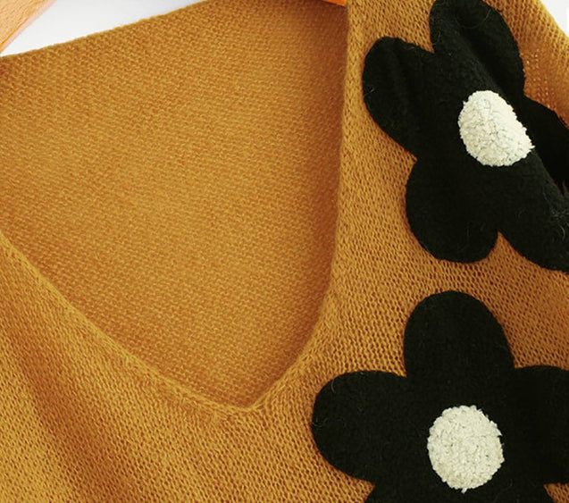 Mustard Flower Sweater