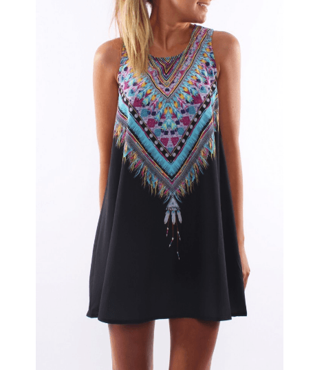 Boho-Hippie Women's Dress - Caxato