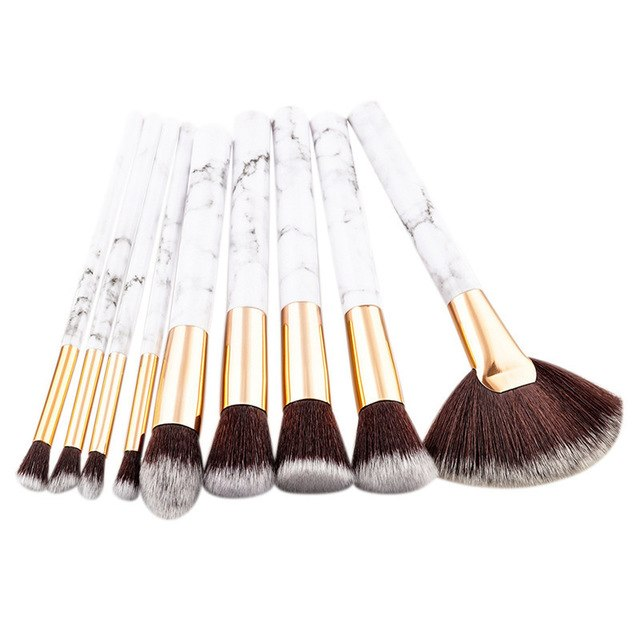 Marble Makeup Brushes (Set)