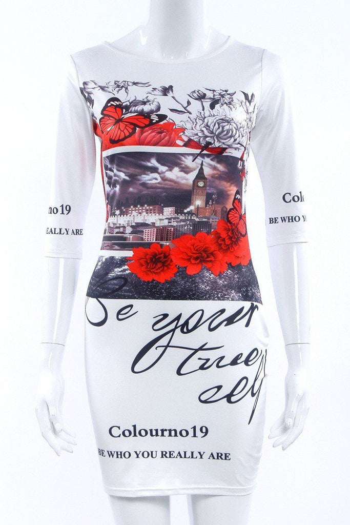 Print Summer Dress - Caxato