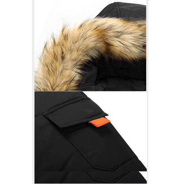 Unisex Hooded Fur Jacket