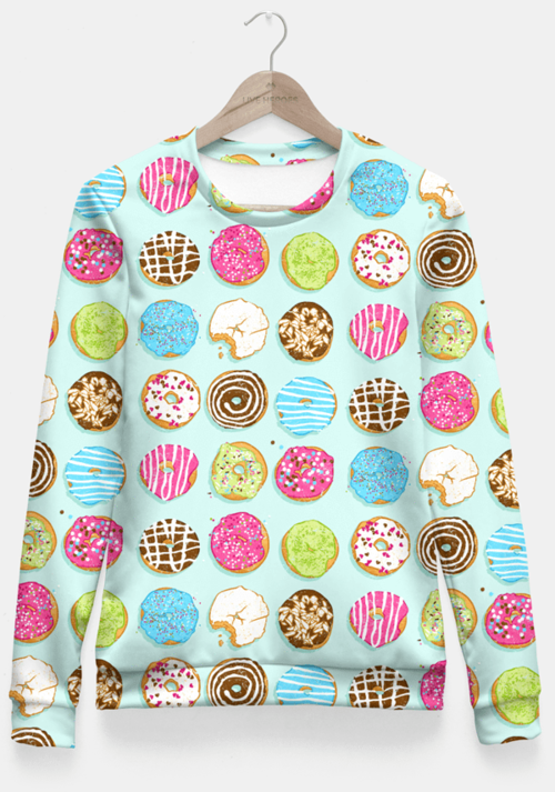 NEW COLLECTION - Fitted Waist Sweater (Sweet Donuts)