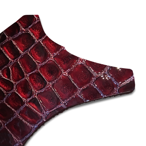 Bordeaux faux croc gloss