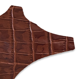 chestnut brown faux croc