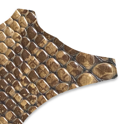 brown faux croc