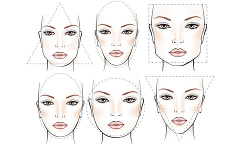 Face shape chart to guide you on the right hairstyle by SL Raw Virgin Hair