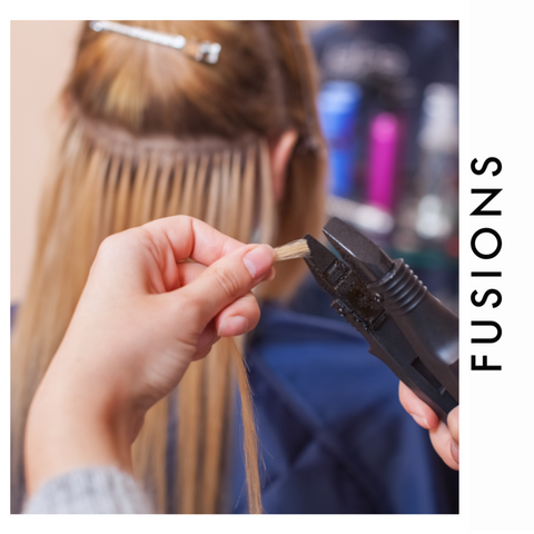 Fusion hair extension are applied with heat versus micro link