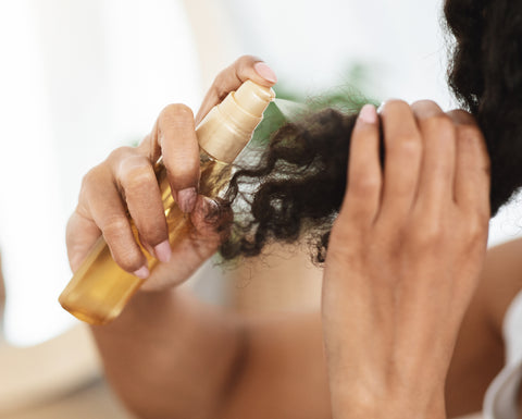 add heat protect to hair for shine and reduce frizz