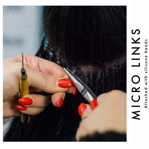 Applying micro link hair extensions