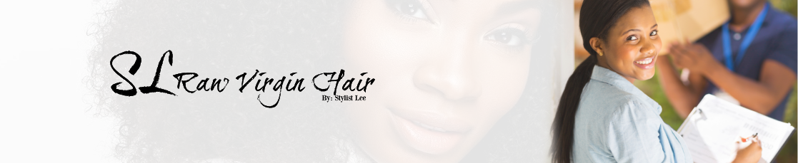 Professional woman receiving package at work from SL Raw Virgin Hair