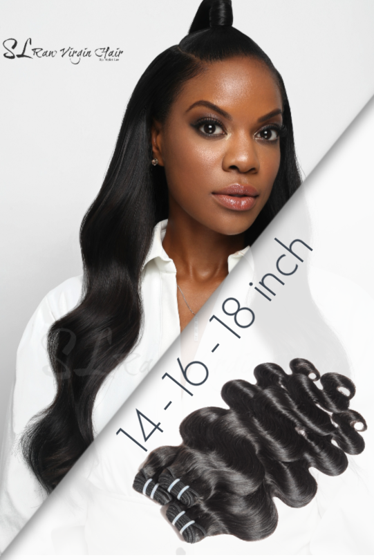 Save Money with Best 3 bundle deals Wavy premium  human hair by SL Raw virgin hair