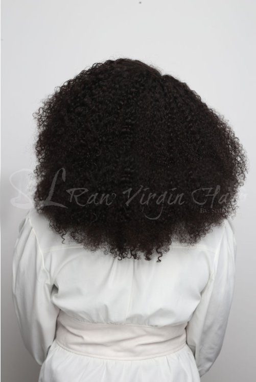 Beautiful Kinky Curly Burmese hair bundles. Sold by SL Raw Virgin hair