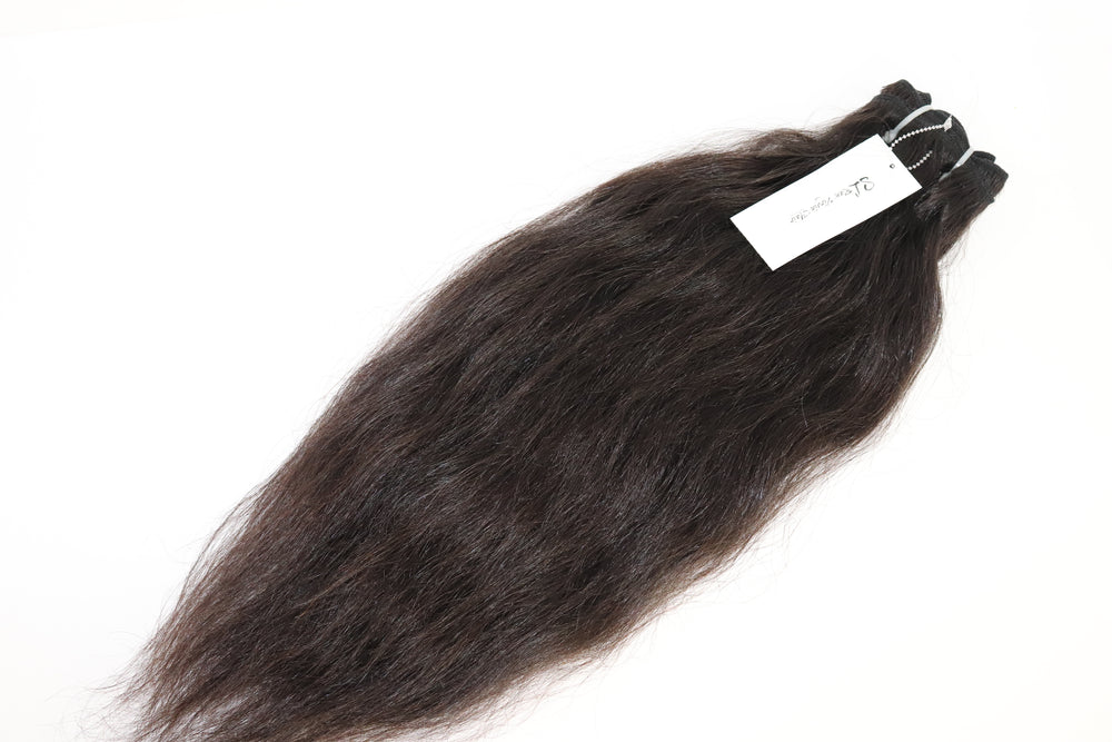 Load image into Gallery viewer, 3.5 oz Coarse Raw Virgin Wavy Human Hair Bundles from Morocco