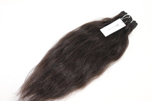 3.5 oz Coarse Raw Virgin Wavy Human Hair Bundles from Morocco