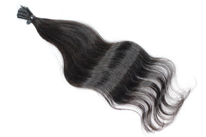 These beautiful 50 pcs Raw Natura Wavy I-tip hair extensions is all you need for a seamless install