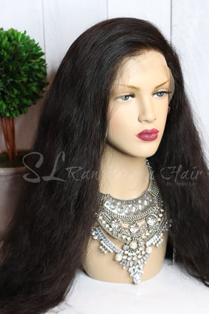 "20"" Raw Natual Wavy Lace front Wig sold by SL Raw Virgin Hair. On sale for $950"