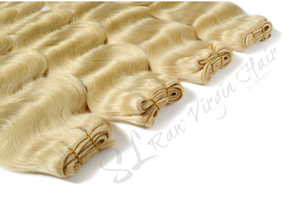 Blonde wavy hair bundles by SL Raw Virgin hair human hair