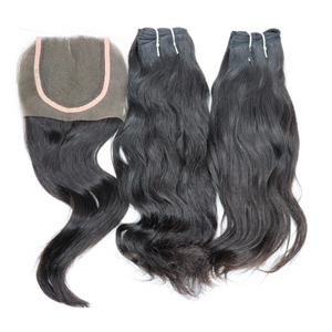 #1 Virgin Indian Natural Wavy Hair Bundles for Sew In :SL Raw Virgin Hair
