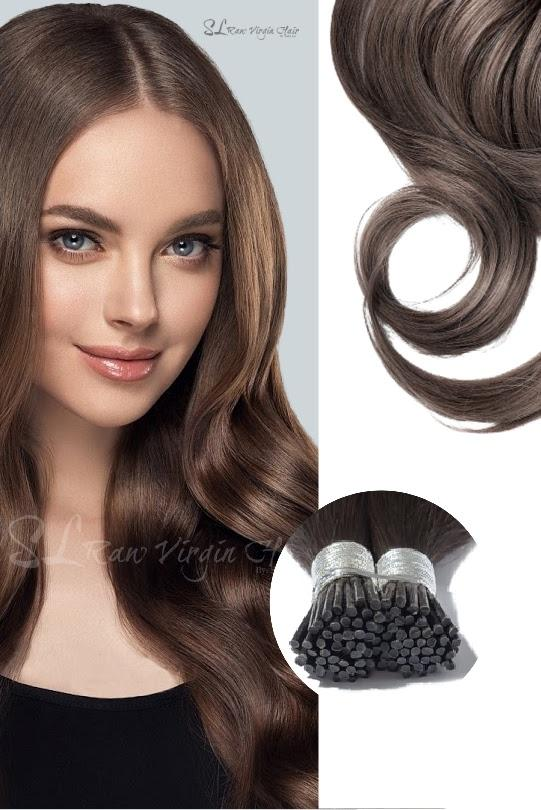 "20"" Dark Brown #2 Straight I-Tip Hair Extensions (135g)"