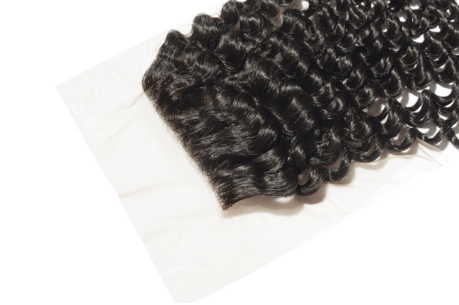 100% Virgin Kinky Curly Lace Closure
