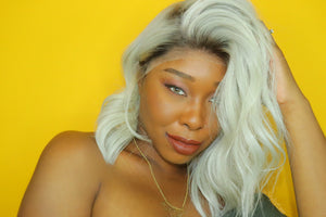 Vicky Icy Grey Lace Front Wig