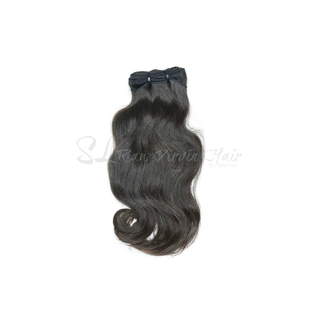 #1 Virgin Indian Natural Wavy Hair Bundles for Sew In and hair extension install :SL Raw Virgin Hair