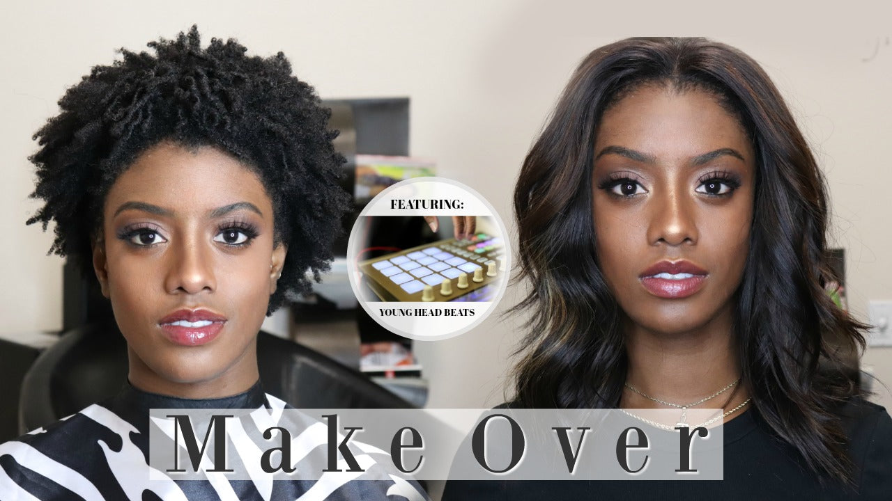 Before and after on 4c hair video hair transformation