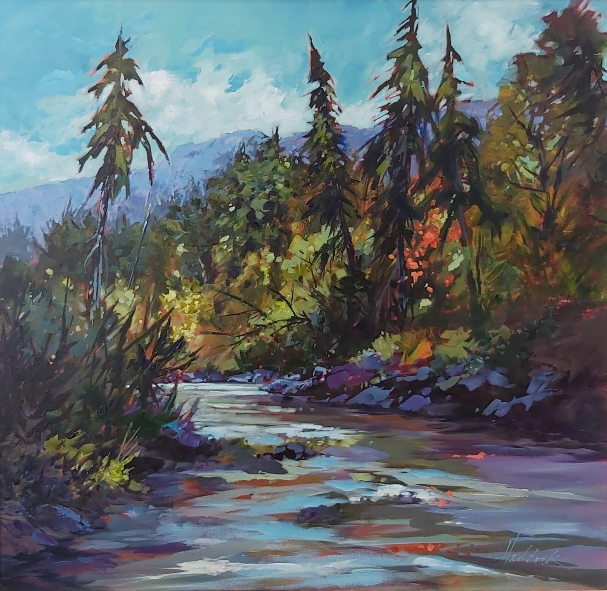 Afternoon Oak Creek by Perry Haddock