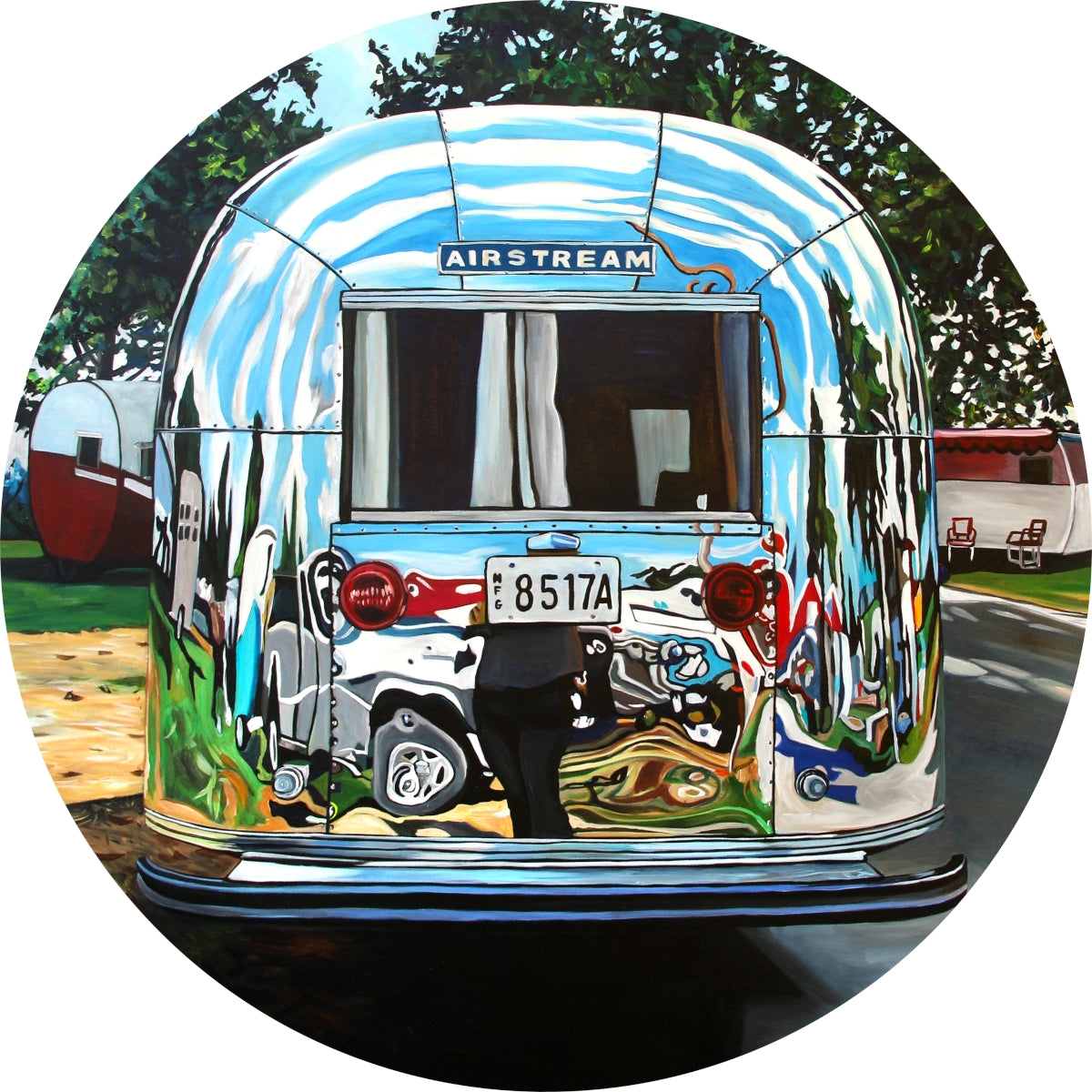 Airstream With Two Tones (2019) by Taralee Guild