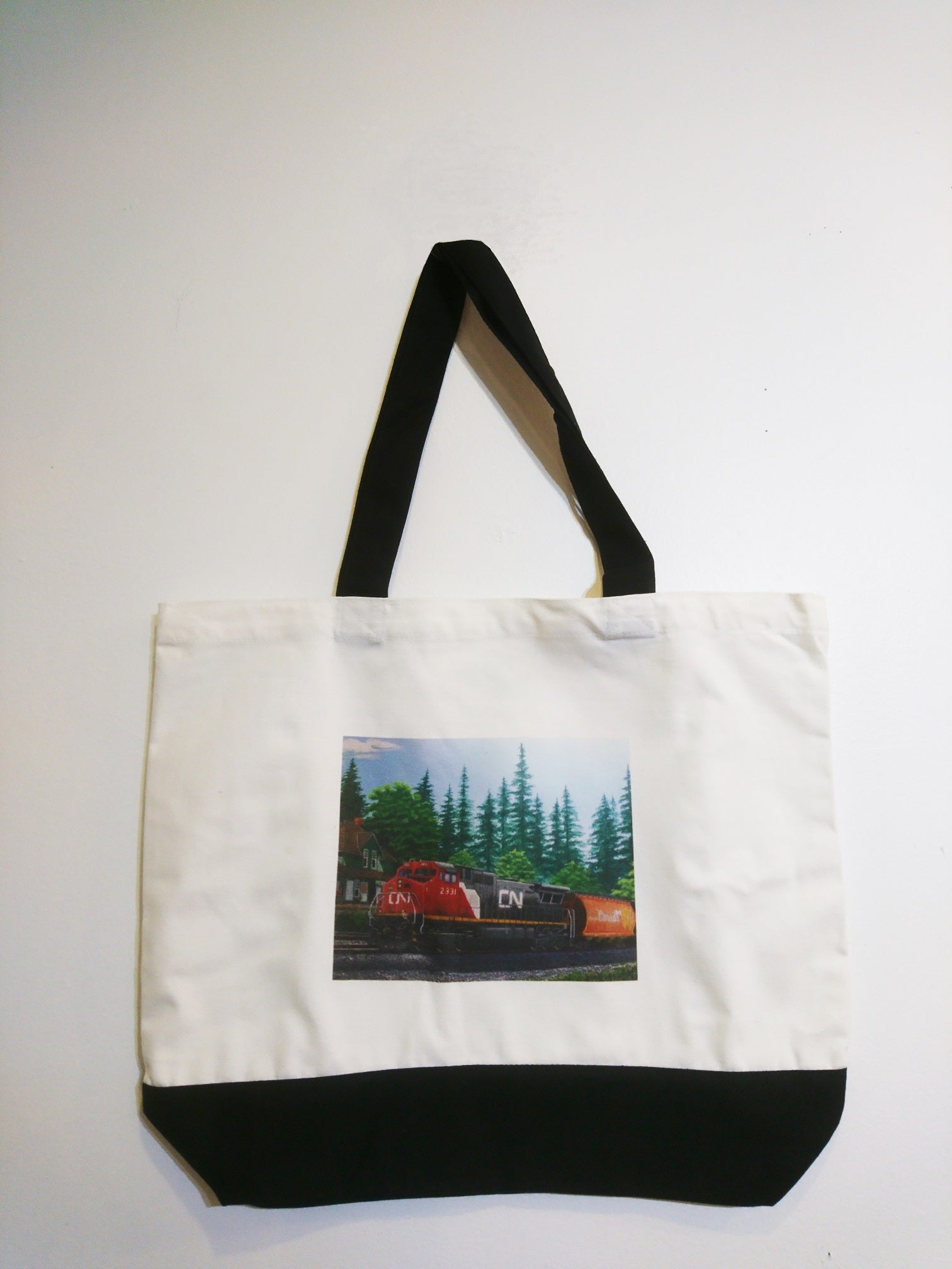 CN Train Tote Bag